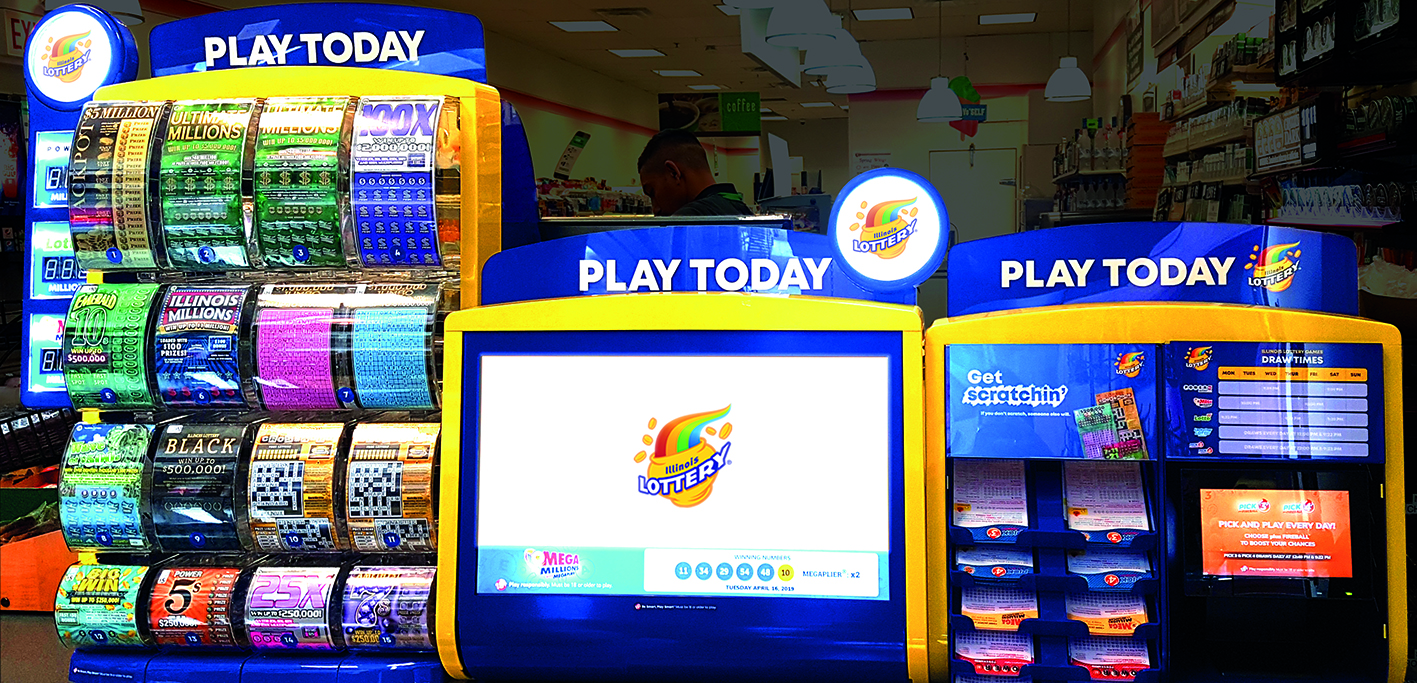 Illinois Lottery Display Stands